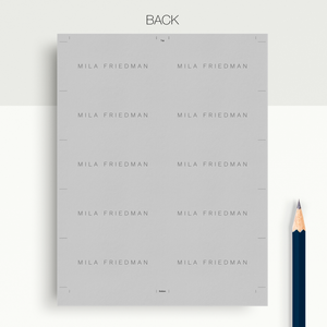 Mila Friedman | Google Docs Professional Business Cards Template - MioDocs