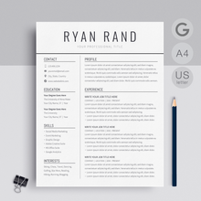 Load image into Gallery viewer, Ryan Rand | Google Docs Resume Template | CV Template - MioDocs