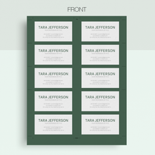 Load image into Gallery viewer, Tara Jefferson | Google Docs Professional Business Cards Template - MioDocs