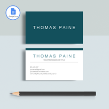 Load image into Gallery viewer, Thomas Paine | Google Docs Professional Business Cards Template - MioDocs