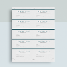 Load image into Gallery viewer, Thomas Paine | Google Docs Professional Business Cards Template