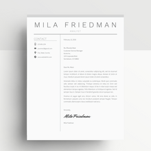 Load image into Gallery viewer, Mila Friedman | Google Docs Resume Template | CV Template - MioDocs