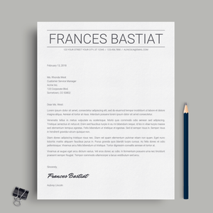 Frances Bastiat | Google Docs Resume Template | CV Template - MioDocs