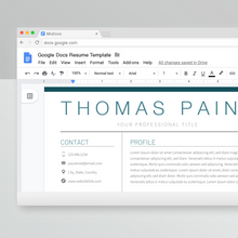 Load image into Gallery viewer, Thomas Paine | Google Docs Resume Template | CV Template - MioDocs