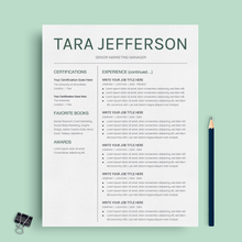 Load image into Gallery viewer, Tara Jefferson | Google Docs Resume Template | CV Template - MioDocs