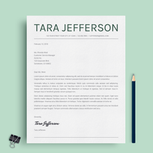 Load image into Gallery viewer, Tara Jefferson | Google Docs Resume Template | CV Template