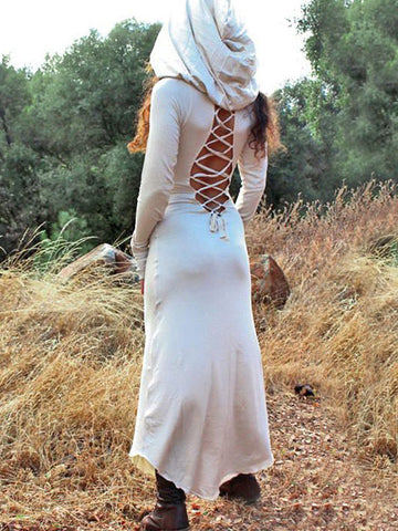 Hooded Bandage Medieval Cape Outwear
