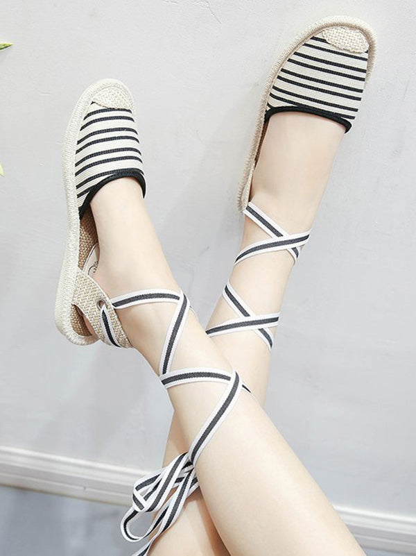 Bandage Simple Fisherman Flat Sandal