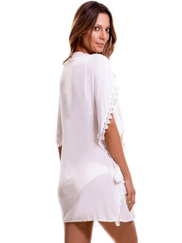 Lacy Belted Beach Cover-ups