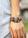 Bohemia Turquoise Hollow Carving With Ring Bracelet Accessories