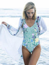Retro Inwrought Floral-Print Bohemia Beach Long Cardigan Tops