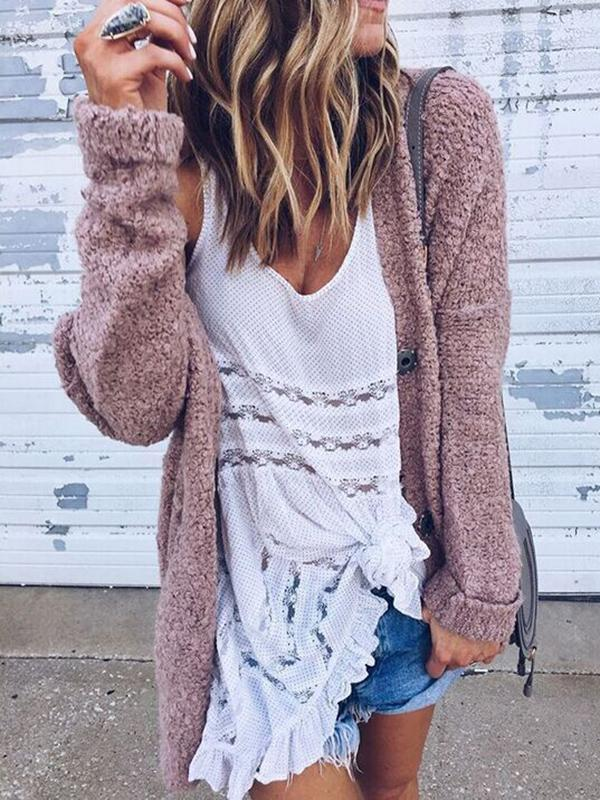 Fashion Fleecez Loose Cardigan Tops