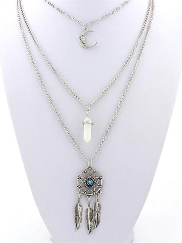 Alloy Rhinestone Resin Bead Flower pendant Necklace Accessories