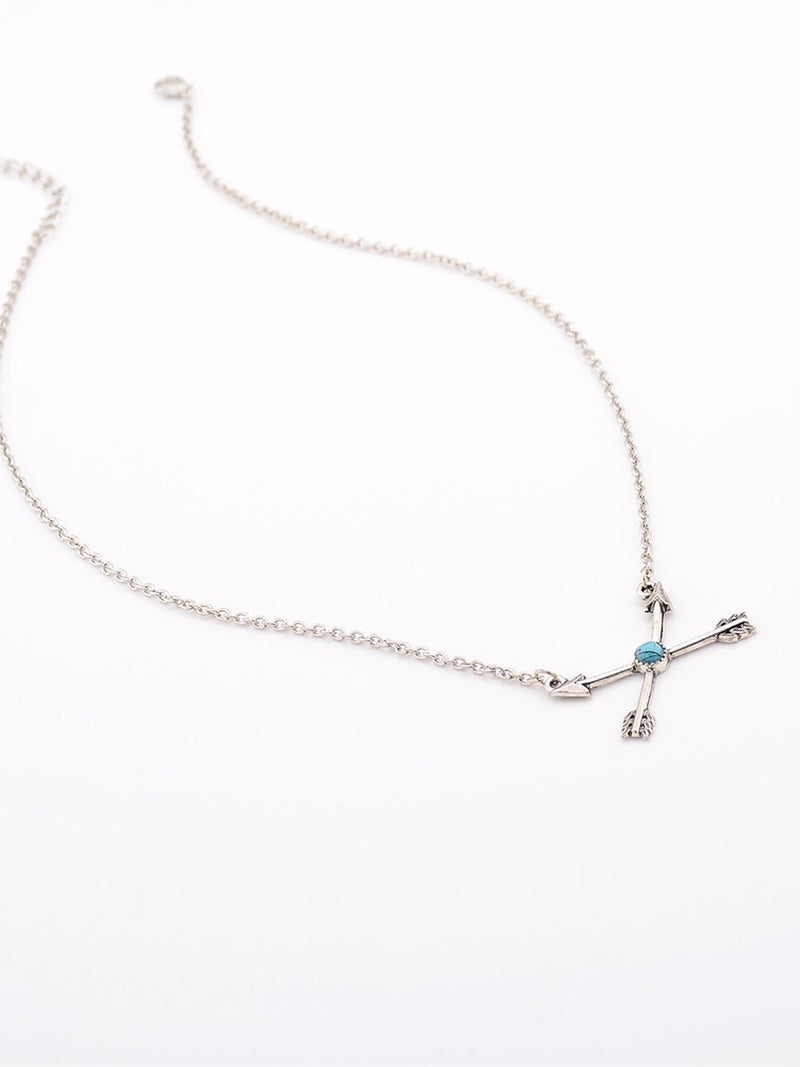 Arrow Pattern Turquoise Necklaces Accessories