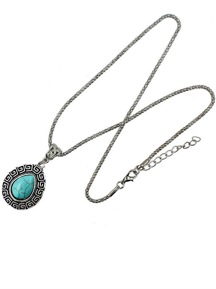 Water-drop Pattern Turquoise Necklaces Accessories