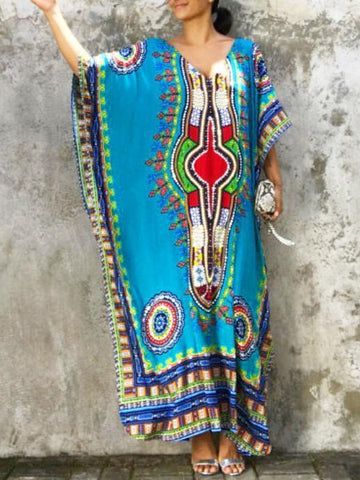 Printed National Loose Beach Cover-ups