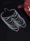 Pretty Vintage Tassels Turquoise Beads Rings Accessories