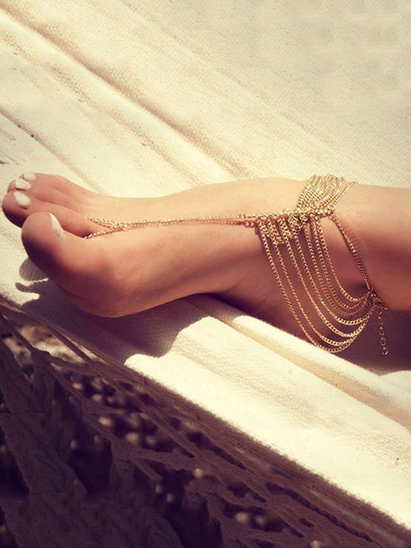 Vintage Gold Tassels Rings Accessories