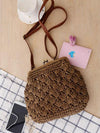 Knitted Retro Buckled Single-shoulder Bag