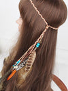 Gypsy Bohemia Peacock Feathers Beads Headwear Accessories