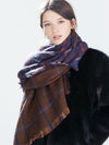 Fashion Double Sided Grid Cape Scarf