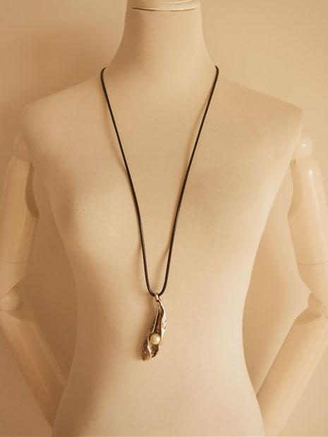 Vintage Pea pod Necklace