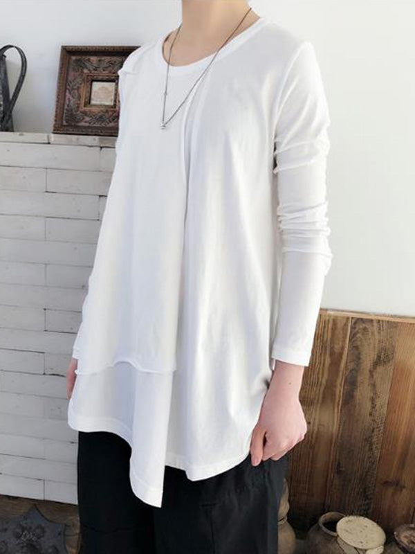 Casual Irregular White Shirt