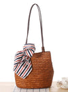 Bohemia Knitted Cotton-polyester Floral Bag