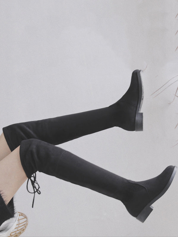 Black Bandage Over the Knee Boots