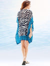 Chiffon Stripes Beach Vacation  Sleeveless V Neck  Mask Cover-ups