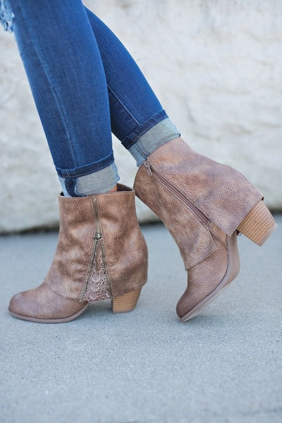Fashion Lace Bandage Purfle Ankle Boots Shoes