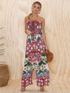 Floral Off-the-shoulder Wide Leg Long Jumpsuits