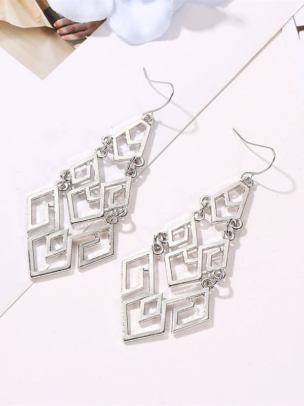 Hollow Geometric Earrings Accessories