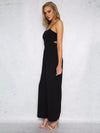 Spaghetti-neck Wide Leg Long Jumpsuits