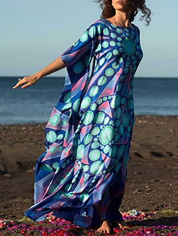 Lace Split-joint H-line Maxi Cover-ups
