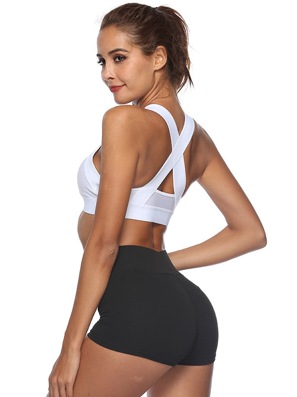 Wide Band Shockproof No Steel Ring Sports Bra