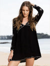Bohemia Loose Long Sleeves V Neck Mini Dress