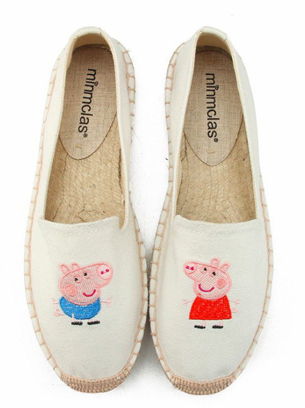 Peppa Pig Canvas Fisherman Flats