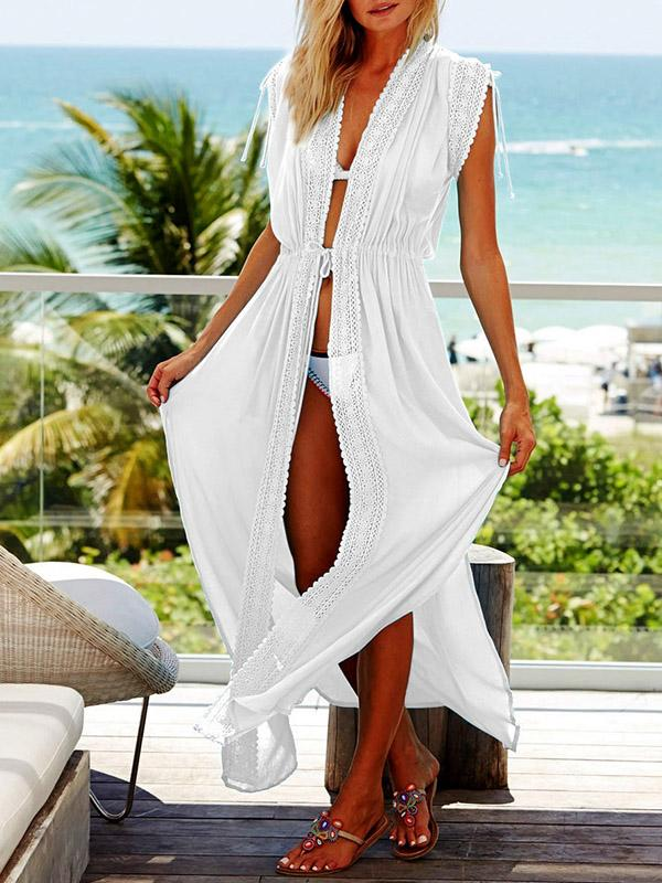 Royan Lacy Lace-up Cover-up Swimwear