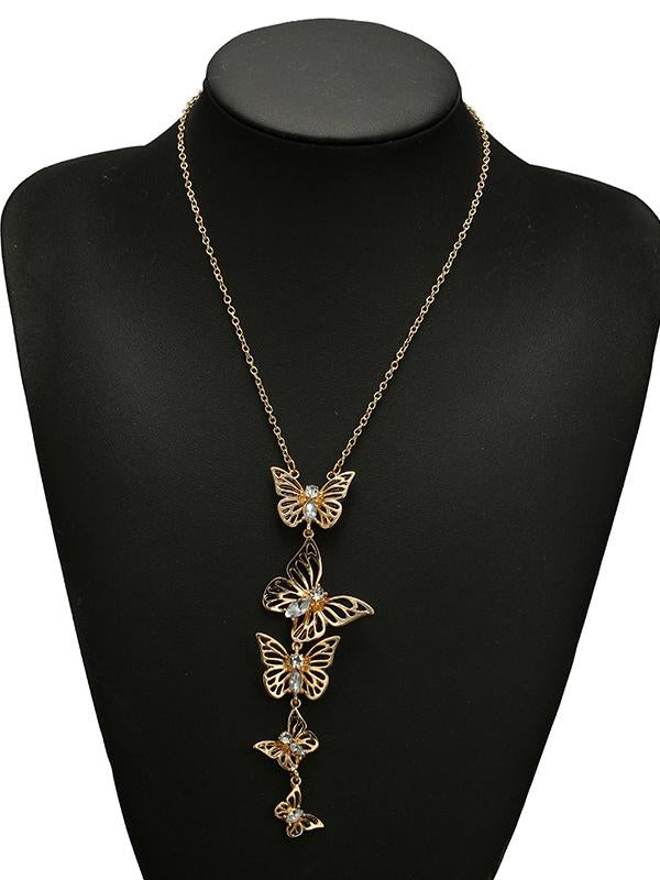 Fashion Vintage Butterfly Shape Alloy Necklaces Accessories