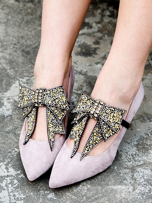 DIY Bow-embellished Shoes Decoration