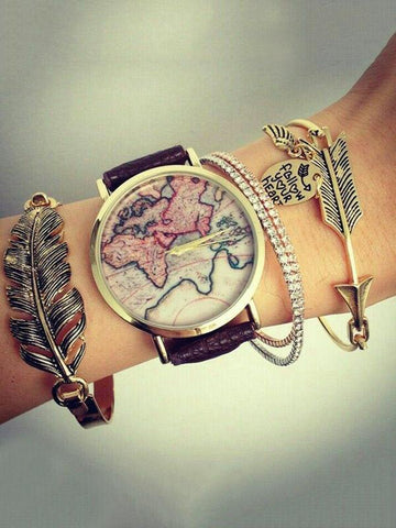 Punk Handmade Leaf Bracelet Accessories