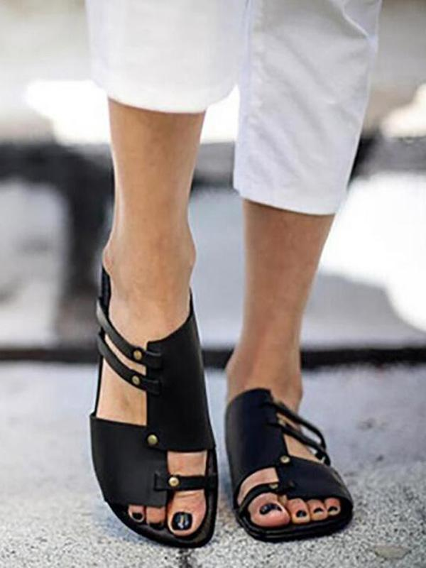 Causal Low Heel Beach Flat Sandals