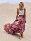 Bohemia Floral-Printed Split-side Beach Skirt Bottoms