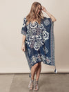 Printed Chiffon Loose Cover-Up Tops