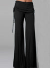 Black Elastic Embroidered Pencil Jean Pants Bottoms