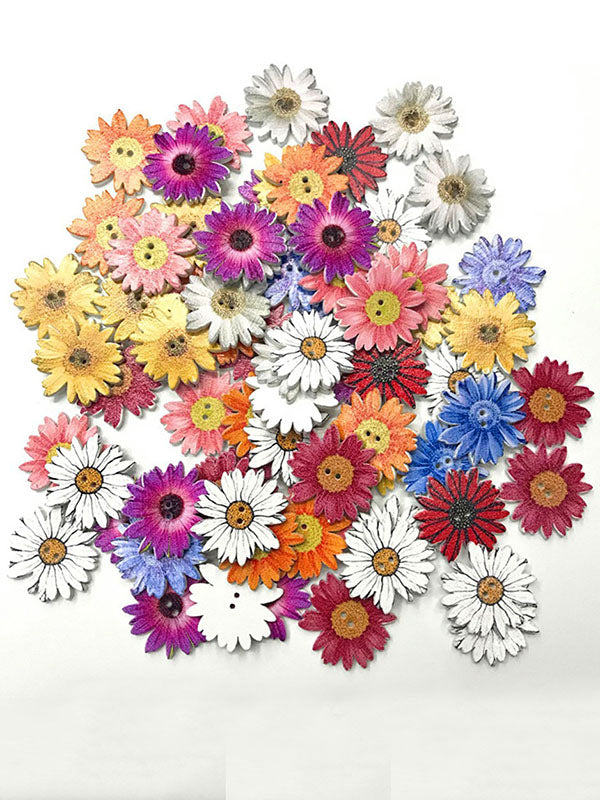 Colorful Daisy Pattern Buttons