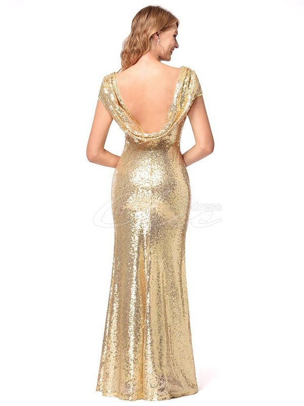 Pretty Sequin Empire Evening Dress