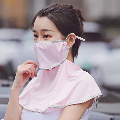 Ice Silk Breathable Sunscreen Adjustable Mask