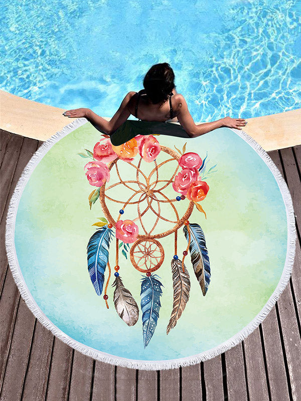 Rose Around Printed Nice Beach Mats